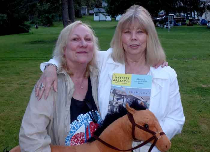 Lisa (left) and Kim celebrated their 60th birthdays together this June, still friends and still horse crazy girls.