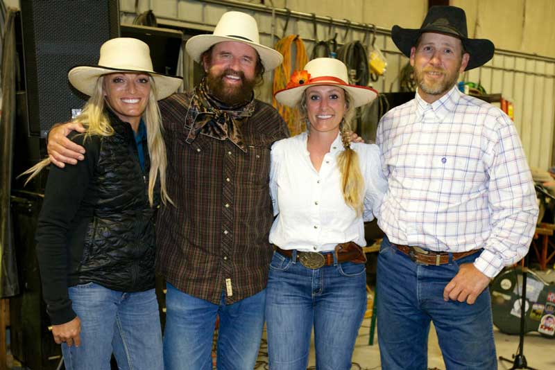 The TS Ranch branding had four talented singer-songwriters on hand during its branding in July: Trinity Seely, Mike Beck, Caitlyn Taussig and Daron Little.