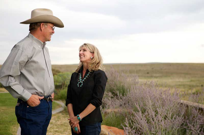 Mark and Kathryn Marley ranch outside of Roswell, New Mexico.