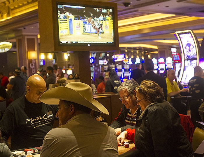 Cowboy hats made their appearance at blackjack tables in the Monte Carlo casino.