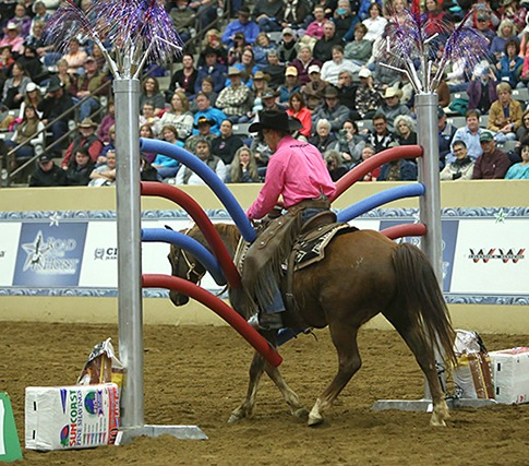 Richard Winters rides his gelding in the final round of competition.