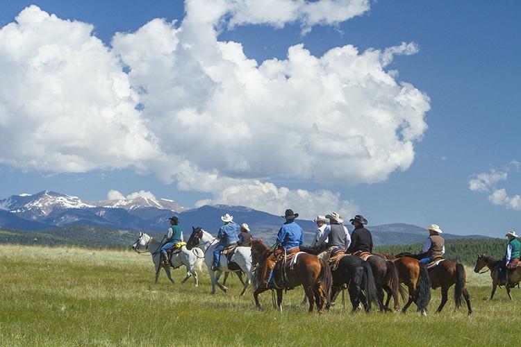 CAA members ride across Hat Creek Ranch in Montana.