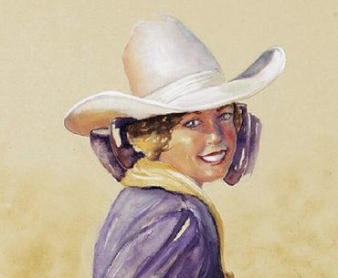 Cowgirls painting Lynn Brown
