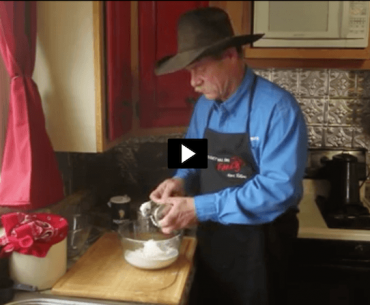 Kent Rollins making sourdough pie crust