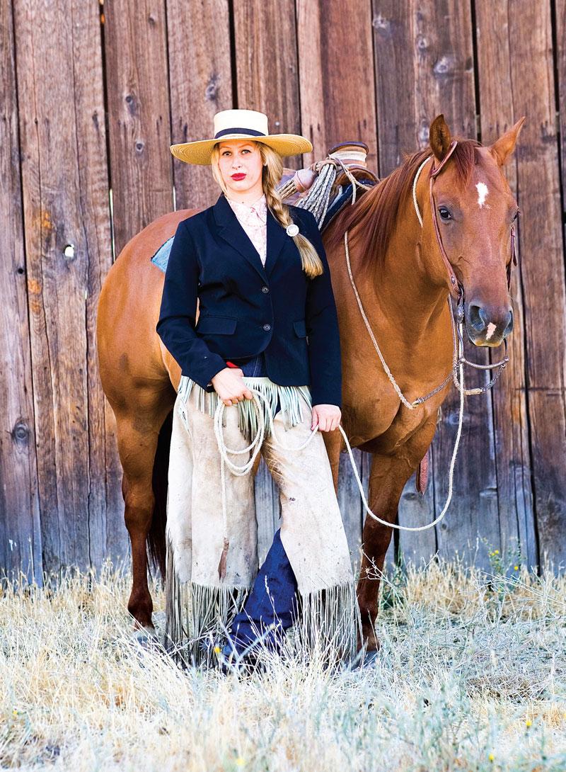 Liz Brannan standing next to horse