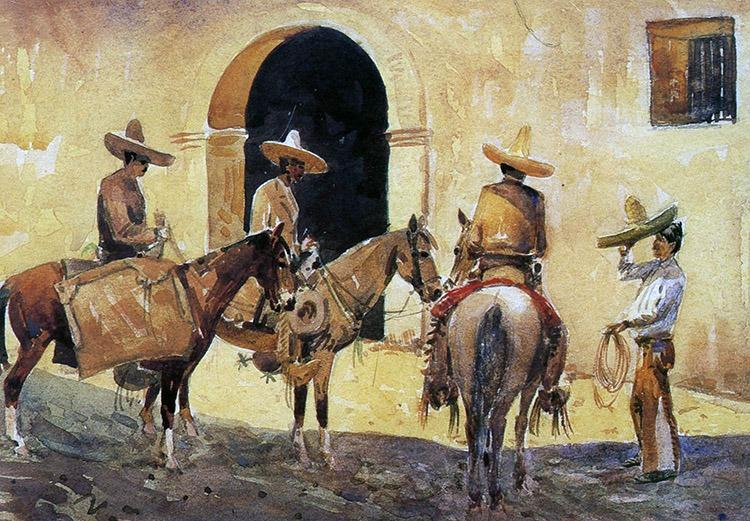 Los Caballeros by Edward Borein