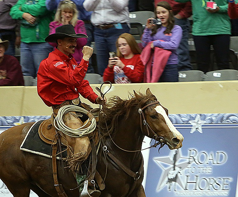Nick Dowers won Road to the Horse in 2016 and returns this year to compete.