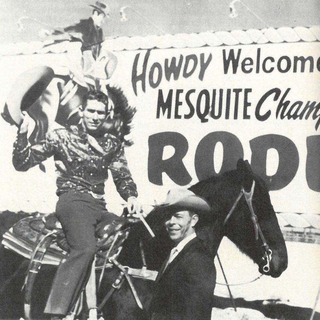 Jim Shoulders and Neal Gay after the Mesquite Championship Rodeo was formed.