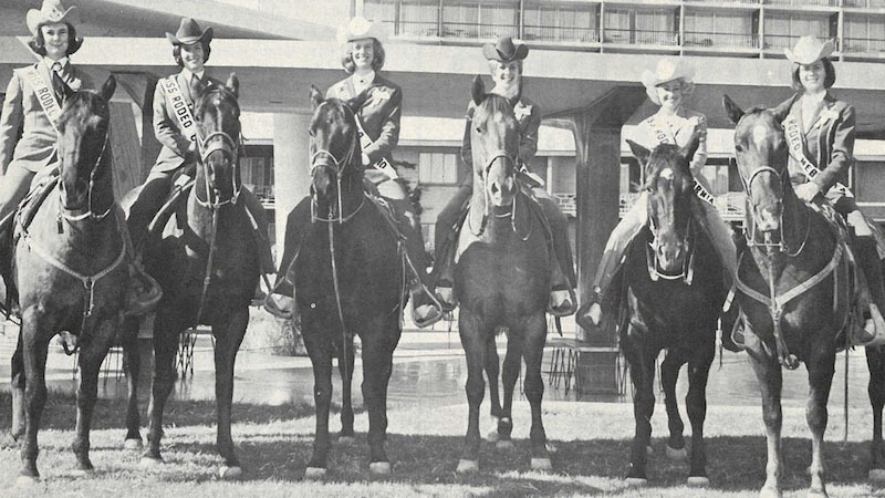 Rodeo queen contestants 1967