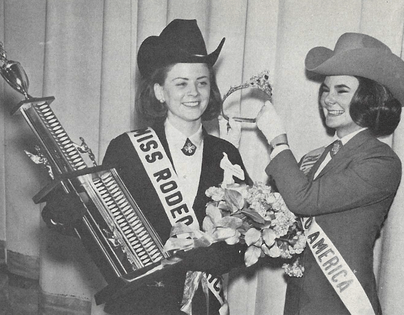 Nancy Ann Simmons receiving crown