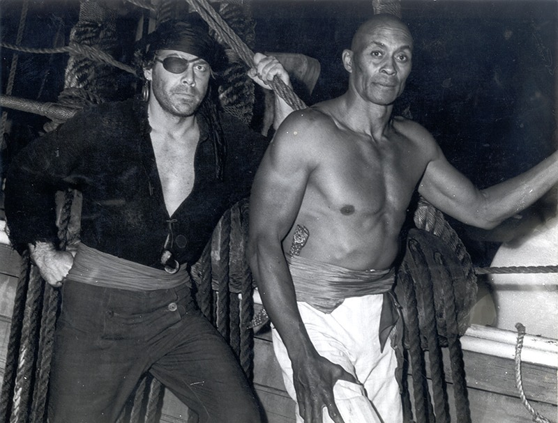 Chuck Willcox and Woody Strode MGM Film