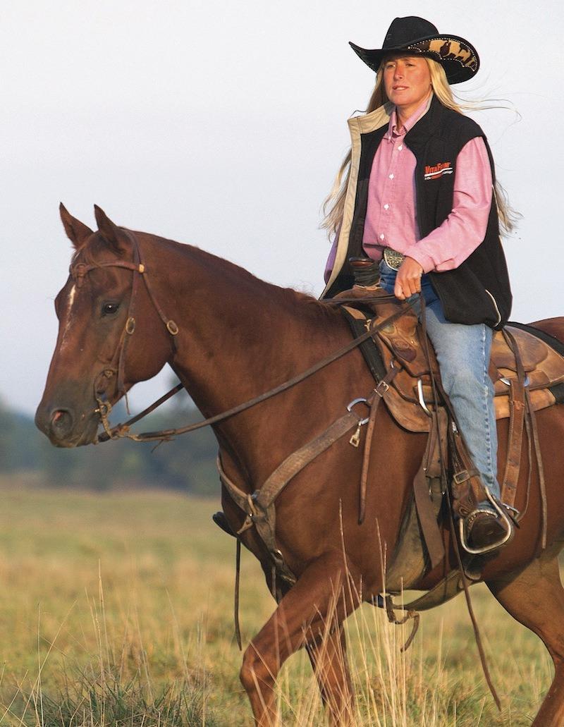 Missy Hays on horseback