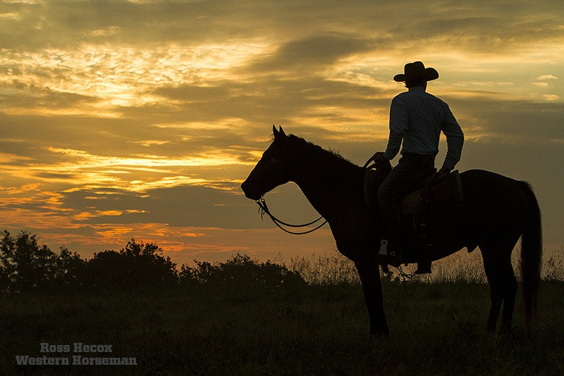 Hecox photo blog sunrise cowboy in North Texas
