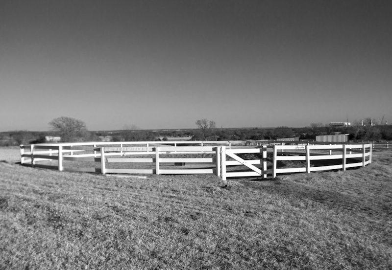 wood fence roundpen