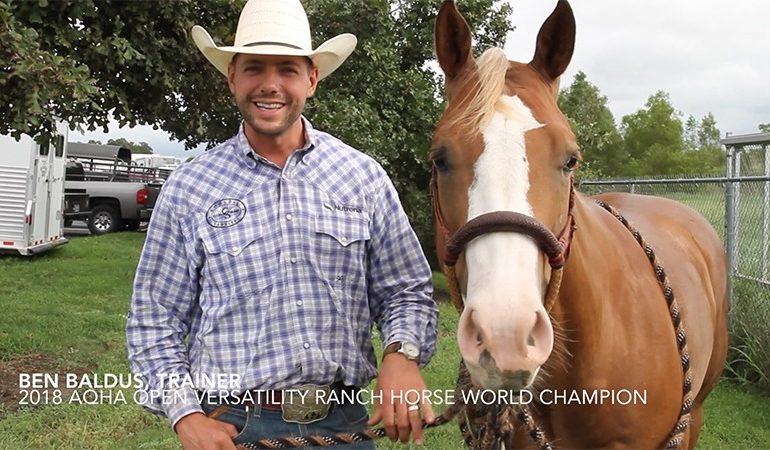 Ben Baldus ranch horse versatility