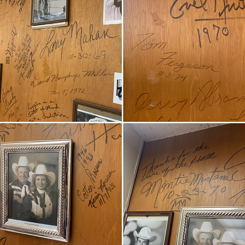 Cow Palace wall Elvis Presley signature
