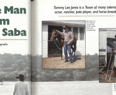 Tommy Lee Jones article from Western Horseman