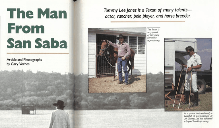 Tommy Lee Jones article from Western Horseman