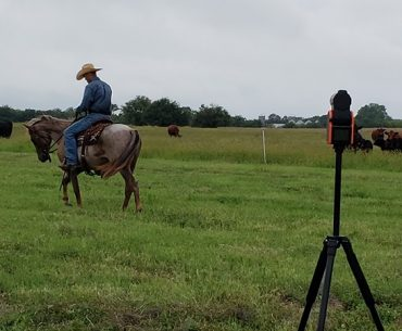solo shot recording horseman ride