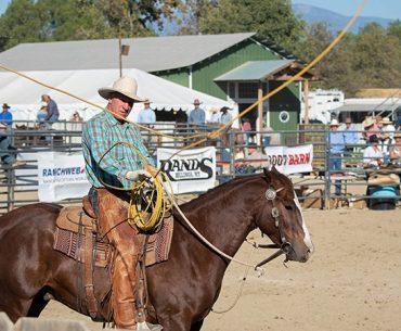 Buck Brannaman throwing a loop at the vaquero roping