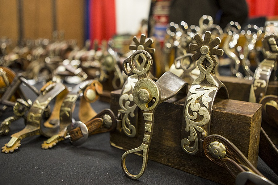 spurs on display at bit and spur show