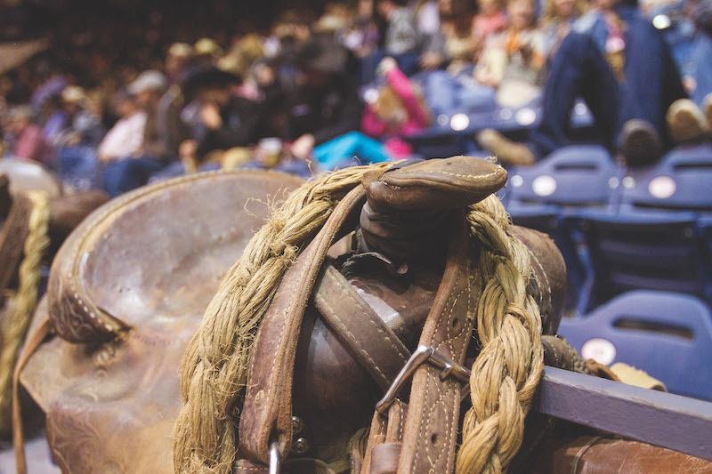 Ranch bronc riding saddle