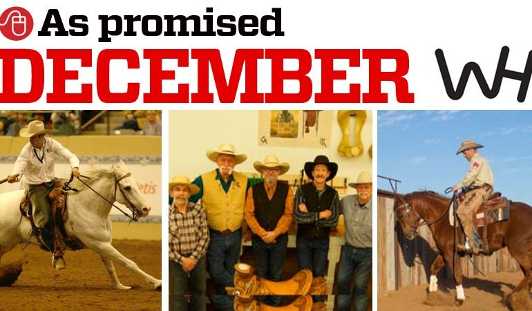 December as promised from the Western Horseman magazine