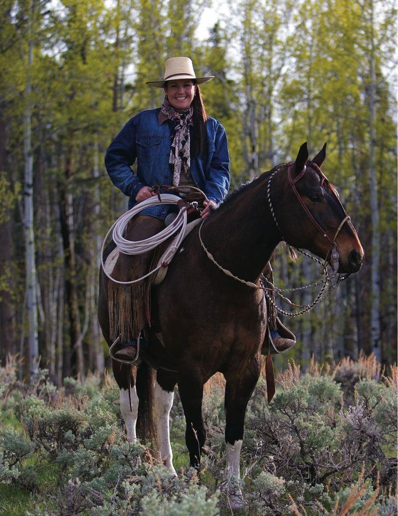 Emilie Wilcox Heggie horseback