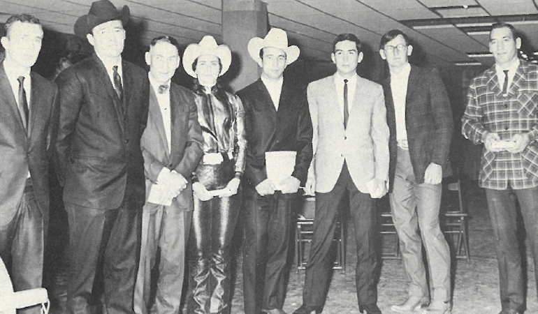 winners of the 1967 National Finals Rodeo standing together