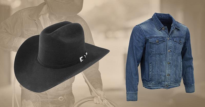 Resistol hats and denim jacket