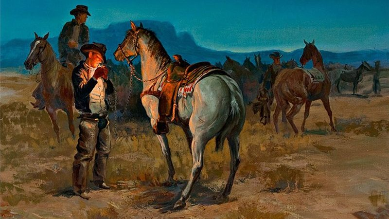 George Phippen painting The Crack of Dawn