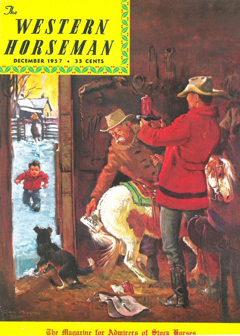 Western Horseman magazine cover featuring George Phippen art