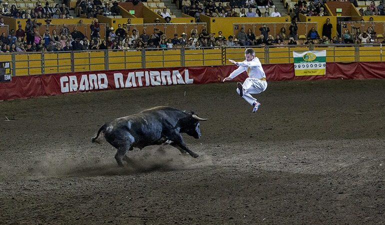 Manu Lataste jumps bull