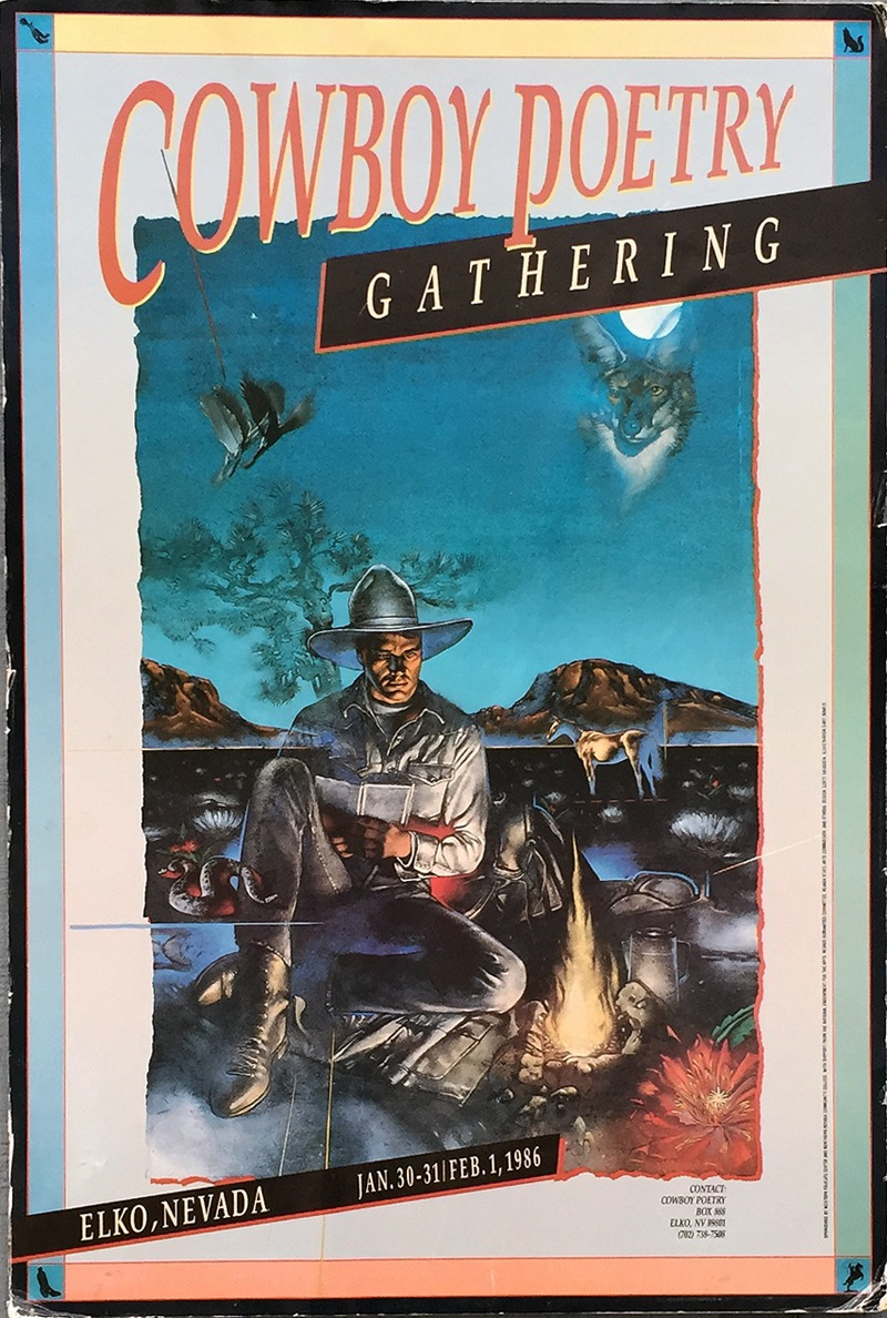 Cowboy Poetry Gathering poster from 1986