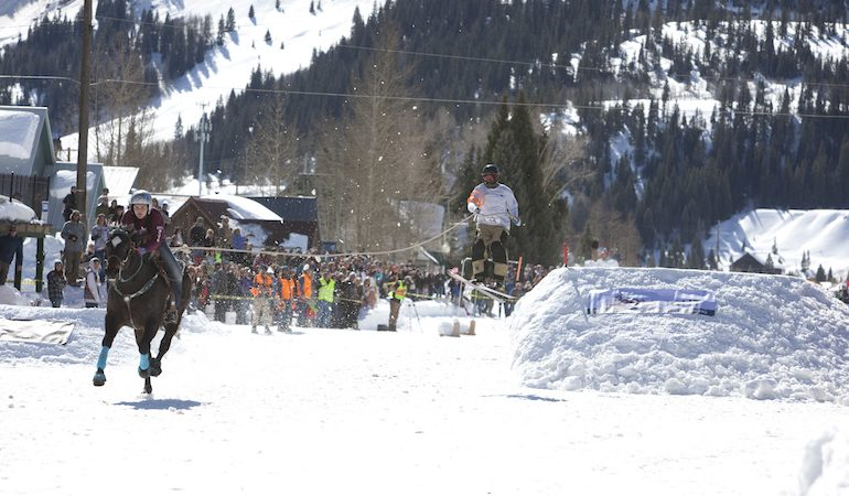 skijoring over jumps