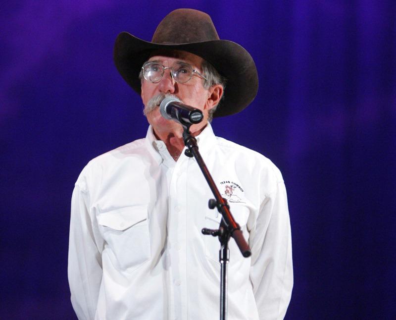 Joel Nelson speaking at Cowboy Poetry Gathering