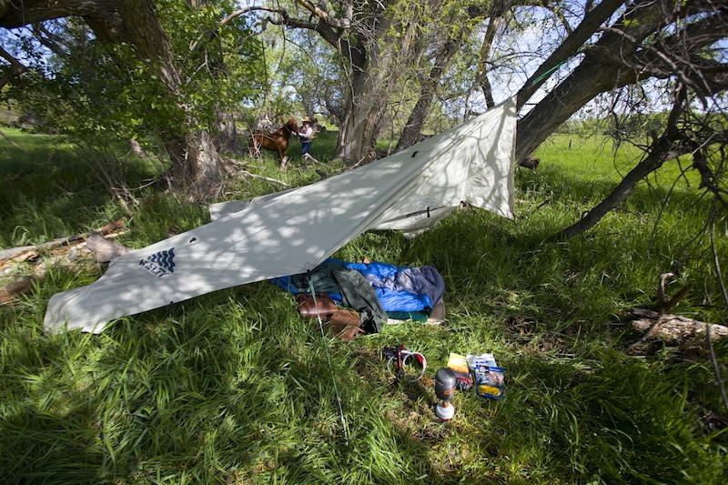 Andy Dean campsite setup