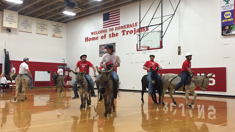 donkey riding FFA basketball