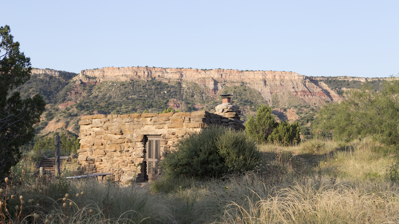 cabin within Palo Duro Canyon