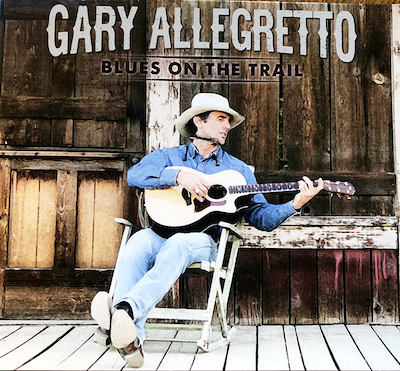 Gary Allegretto's album cover for Blues on the Trail