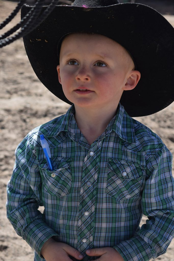 little cowboy with pen in his pocket