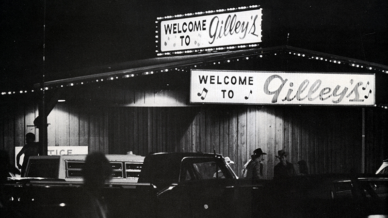 Gilley's bar front from the movie Urban Cowboy