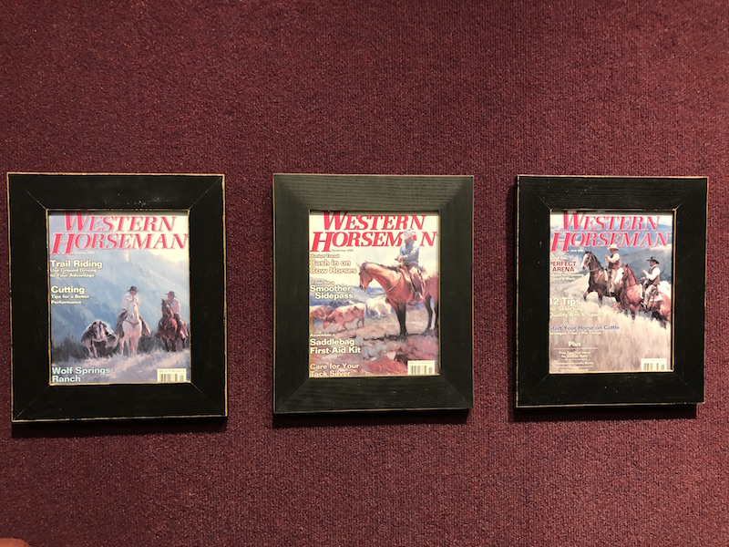 Bill Anton's art on Western Horseman covers