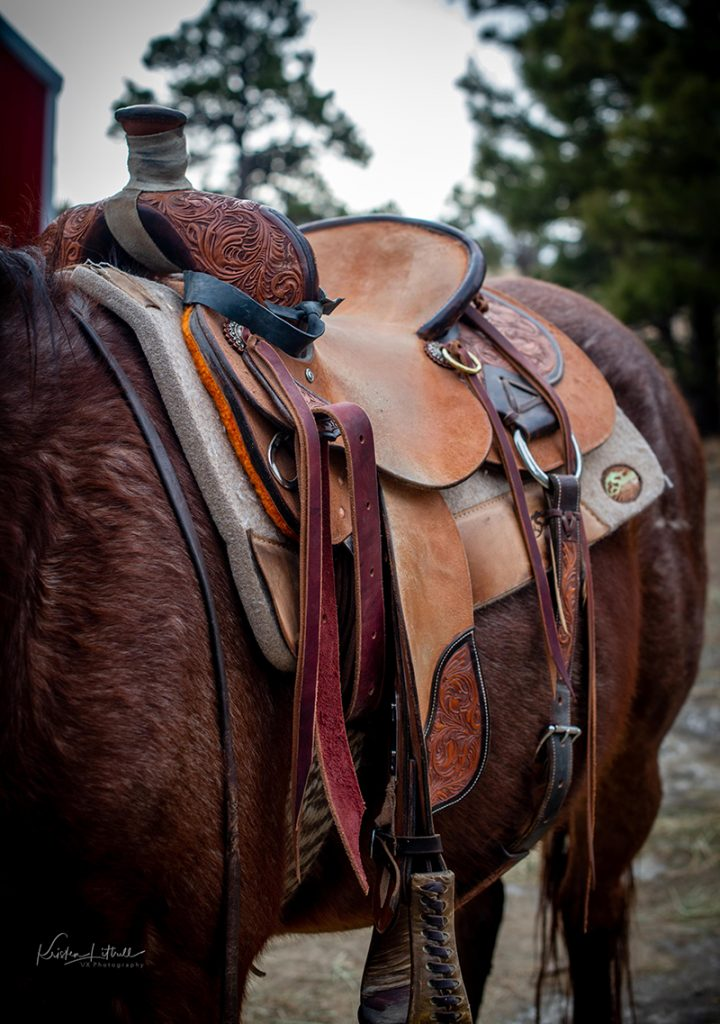 ranch roping saddle for fallen soldiers