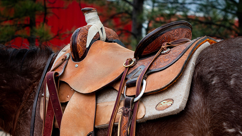 ranch saddle for fallen soldiers