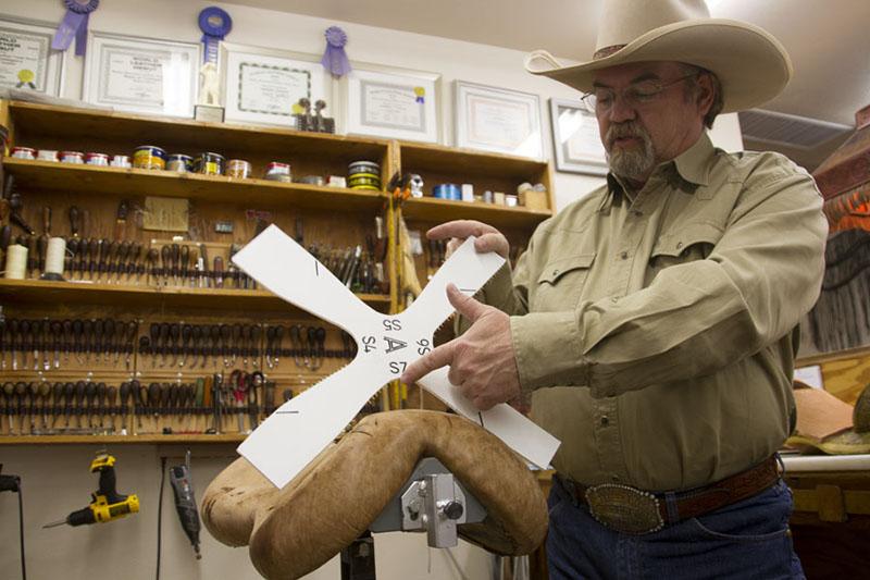 Dennis Lane equine back profile system to fit a saddle to horse's back
