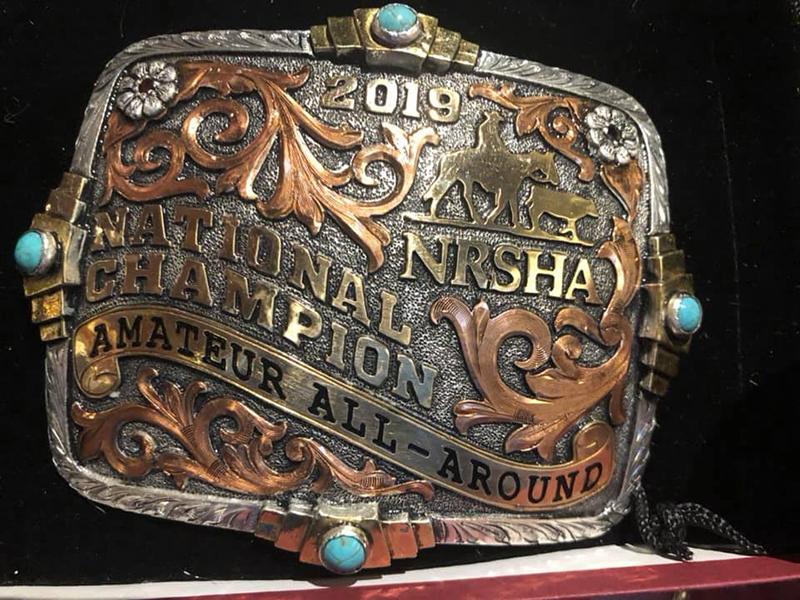 NRSHA Amateur belt buckle.