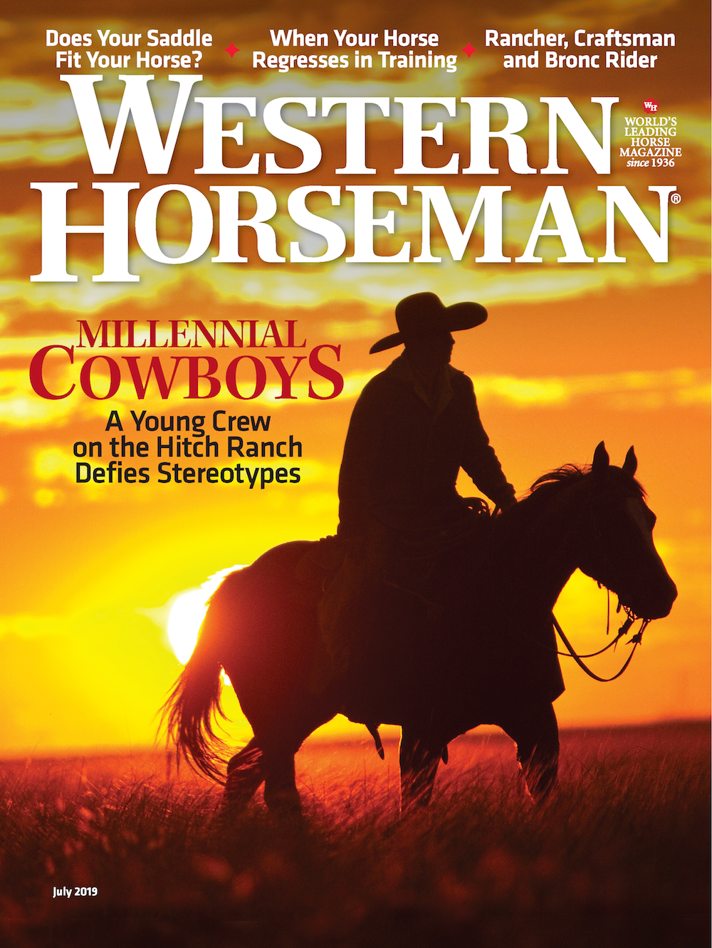 Western Horseman magazine July 2019 issue cover