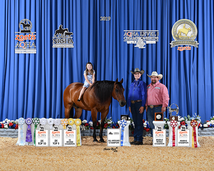 Melinda Mayes-Kelly in win picture at NRSHA and AQHA show