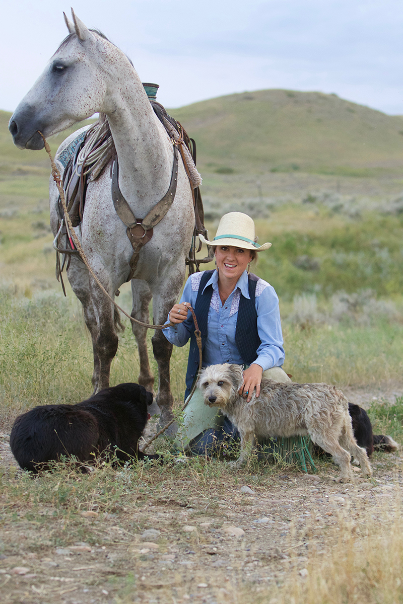 Star Whitt uses horses and stock dogs on the Circle B Ranch in Montana